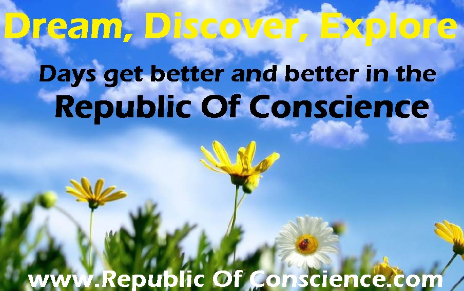 Receiving visitors in the 'Republic of Conscience'